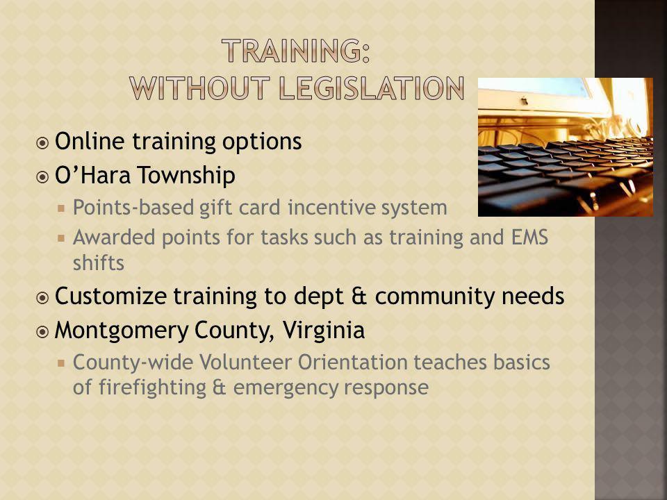 Training: Without Legislation
