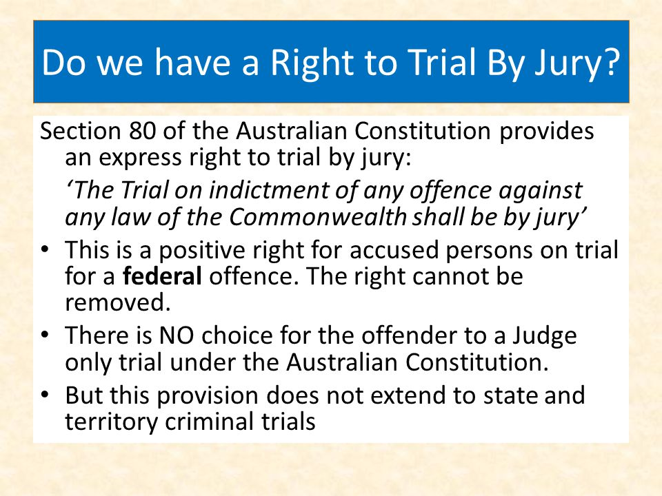 Do we have a Right to Trial By Jury
