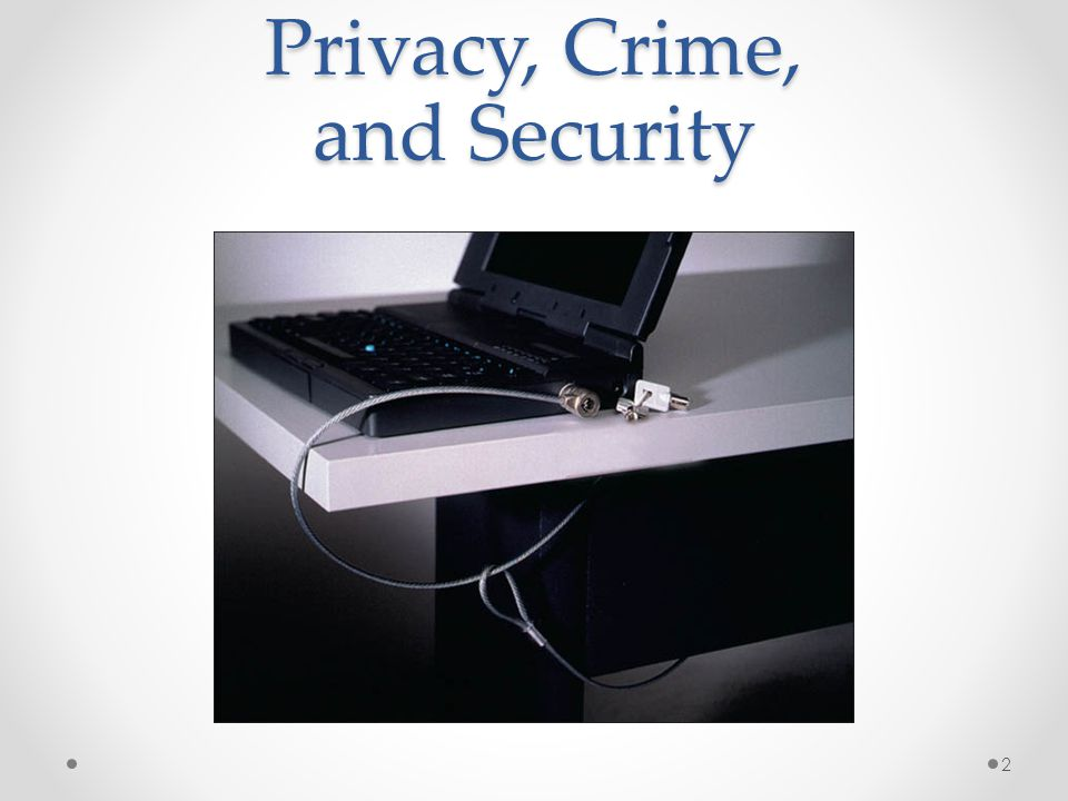 Privacy, Crime, and Security