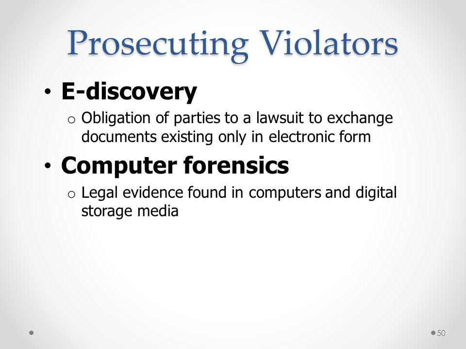 Prosecuting Violators