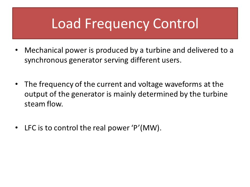 Load Frequency Control