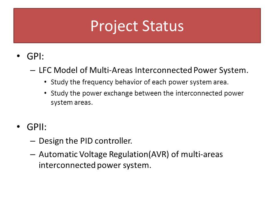 Project Status GPI: GPII: