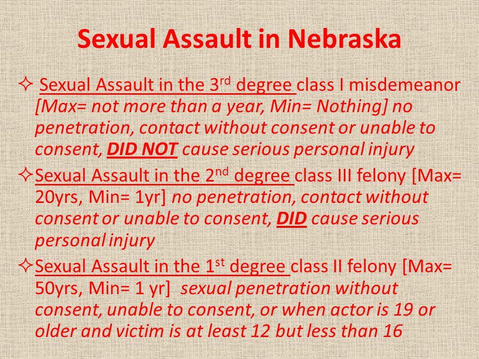 Sexual Assault in Nebraska