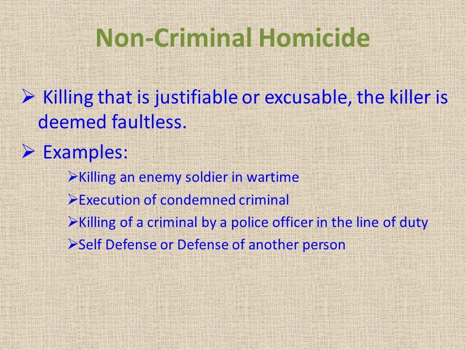 Non-Criminal Homicide