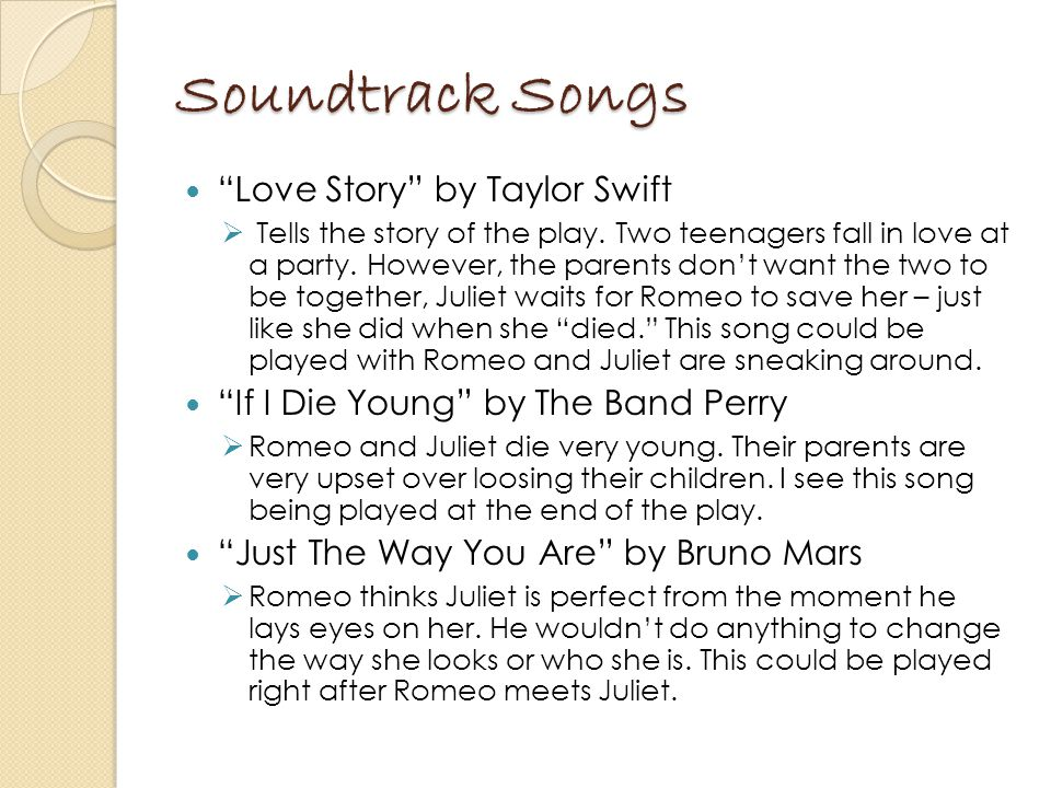 Soundtrack Songs Love Story by Taylor Swift