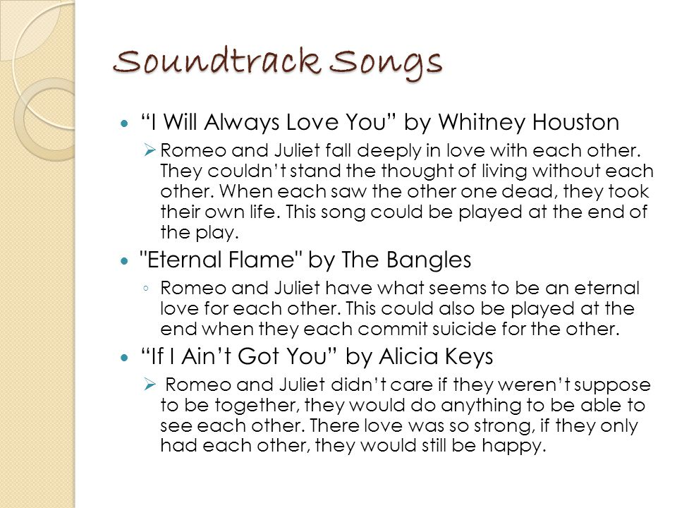 Soundtrack Songs I Will Always Love You by Whitney Houston