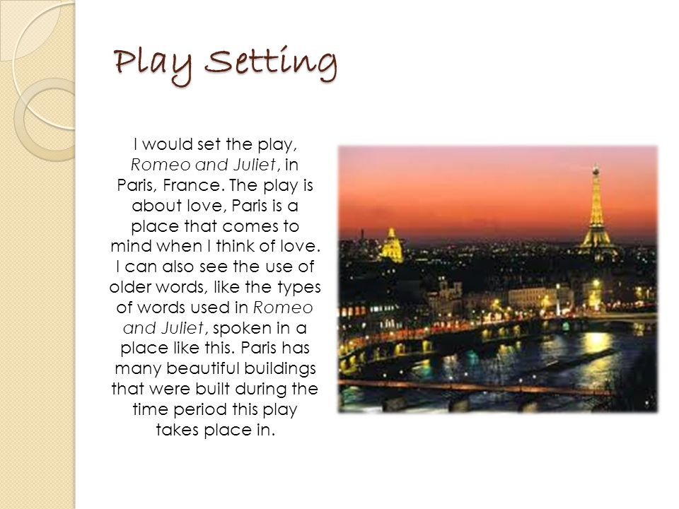 Play Setting