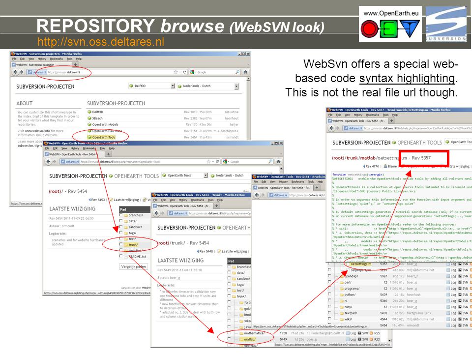 REPOSITORY browse (WebSVN look)