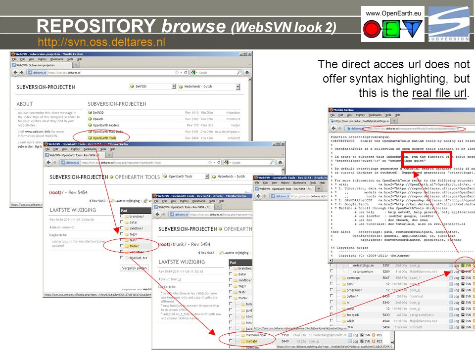 REPOSITORY browse (WebSVN look 2)
