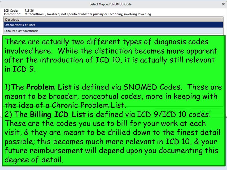 There are actually two different types of diagnosis codes involved here. While the distinction becomes more apparent after the introduction of ICD 10, it is actually still relevant in ICD 9.