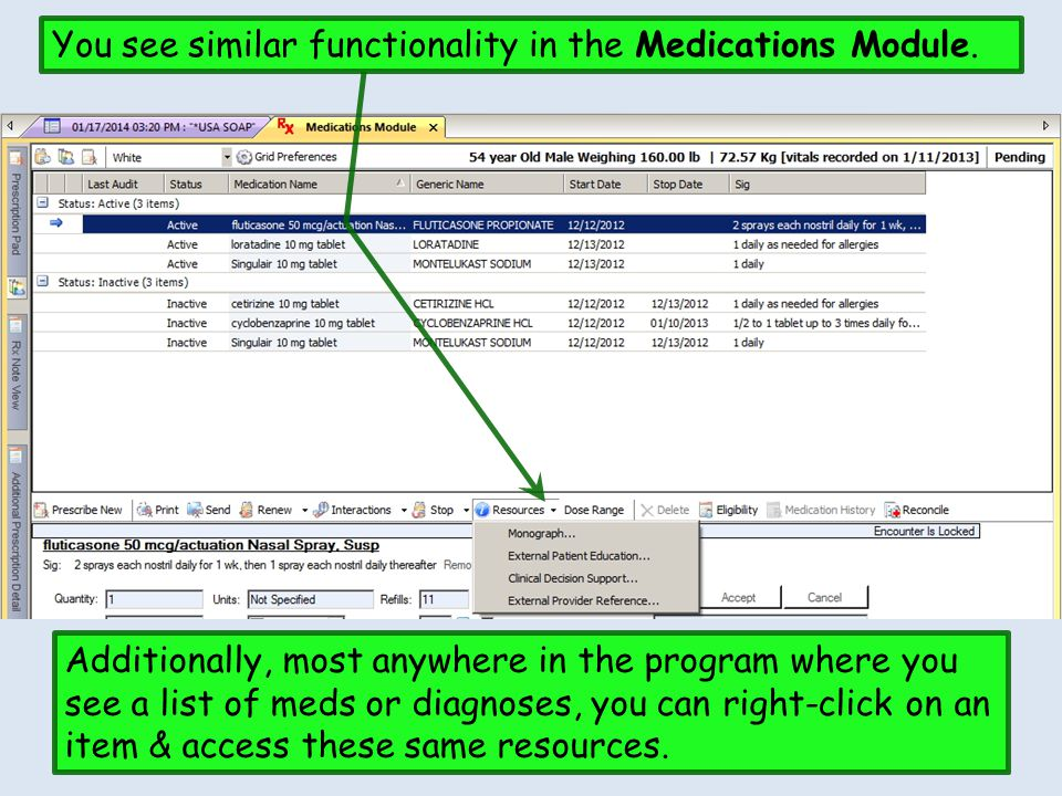 You see similar functionality in the Medications Module.