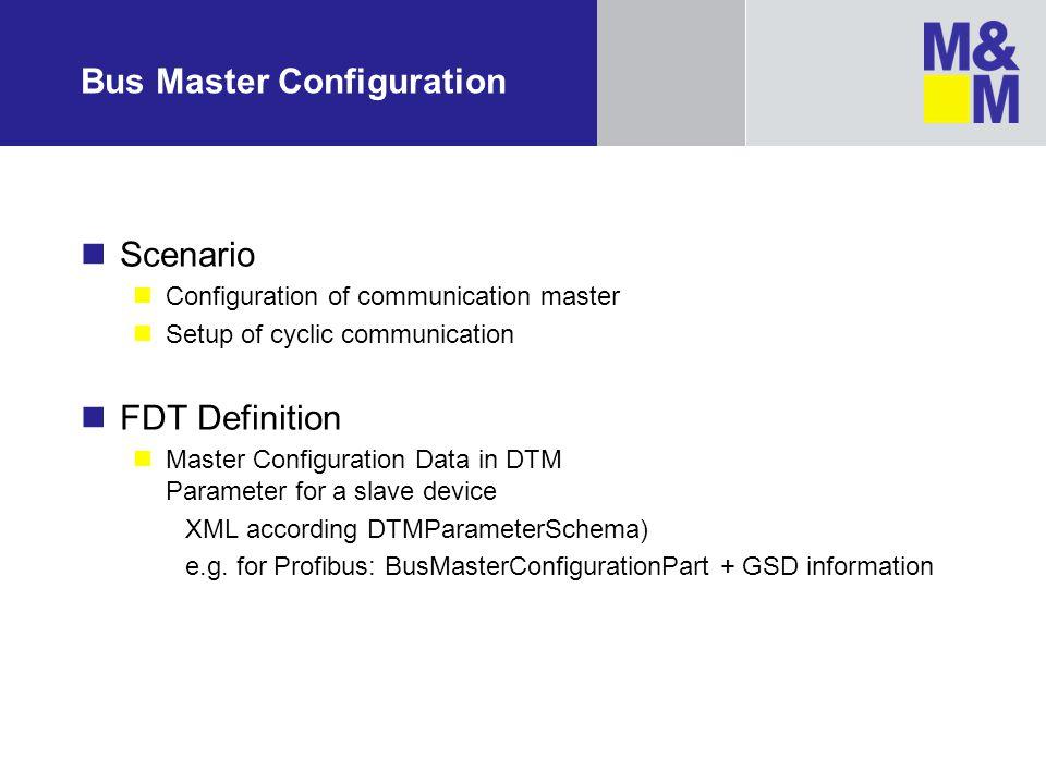 Bus Master Configuration