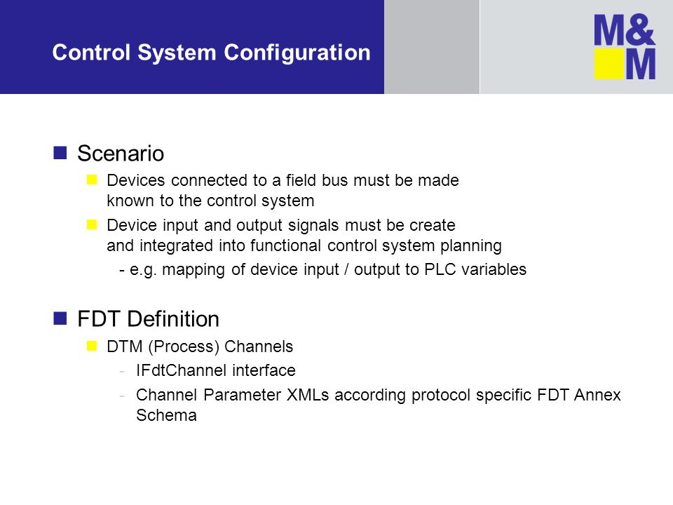 Control System Configuration