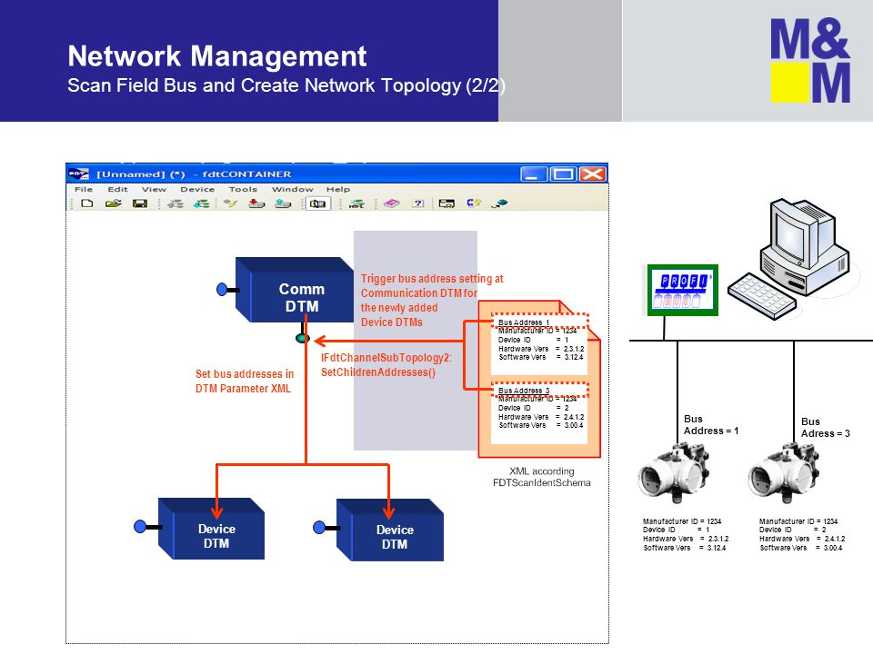Network Management Scan Field Bus and Create Network Topology (2/2)