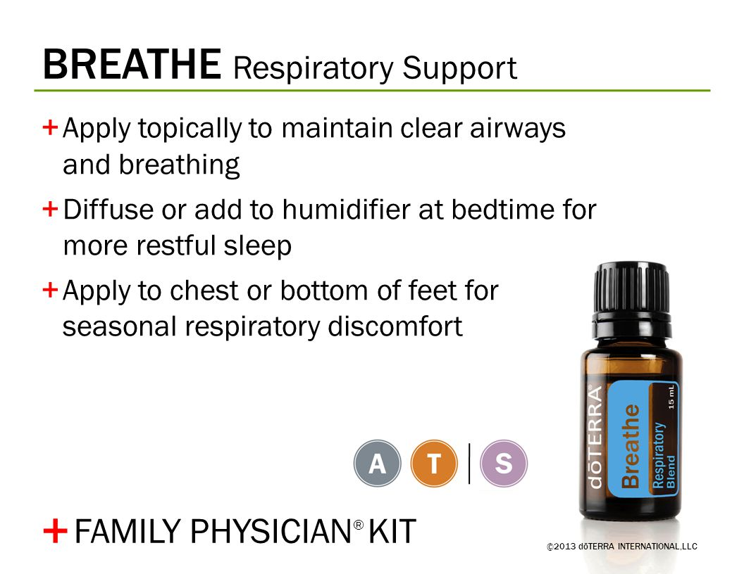 + BREATHE Respiratory Support FAMILY PHYSICIAN® KIT