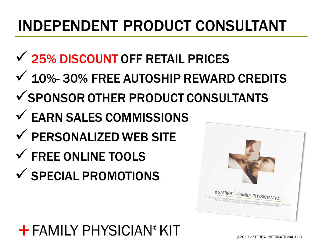 + INDEPENDENT PRODUCT CONSULTANT FAMILY PHYSICIAN® KIT