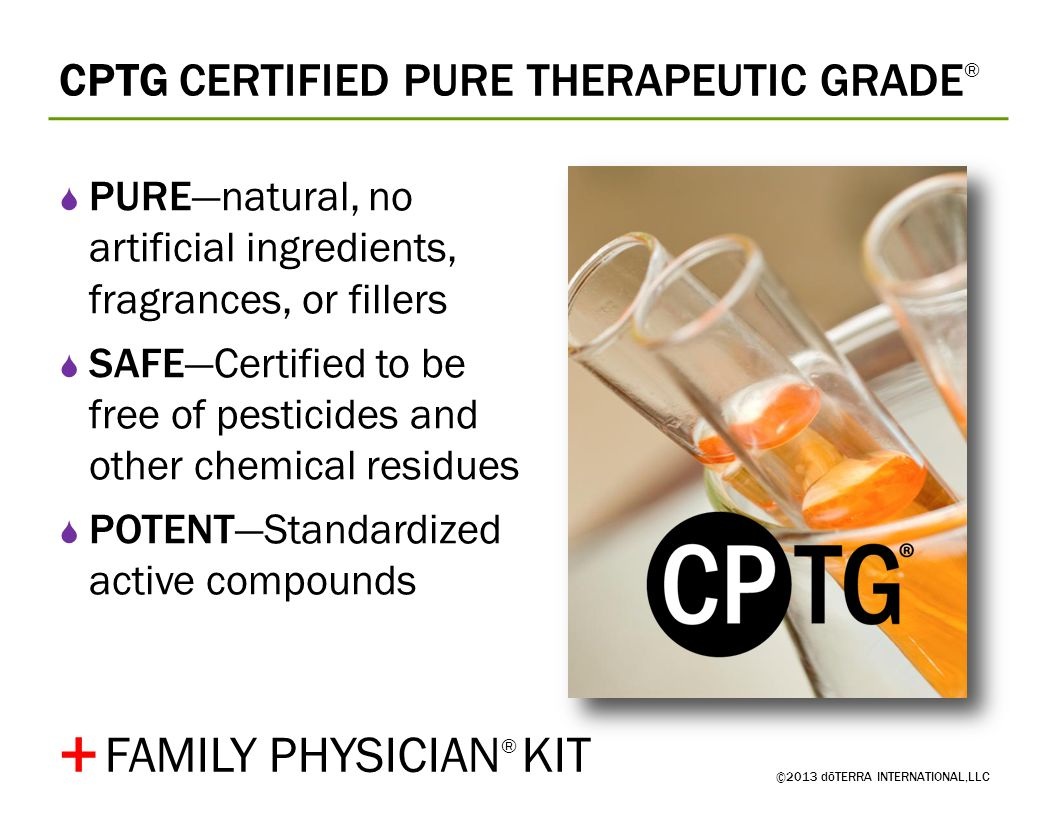+ FAMILY PHYSICIAN® KIT CPTG CERTIFIED PURE THERAPEUTIC GRADE®