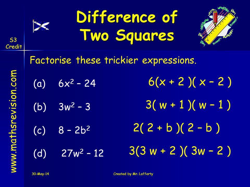 Difference of Two Squares