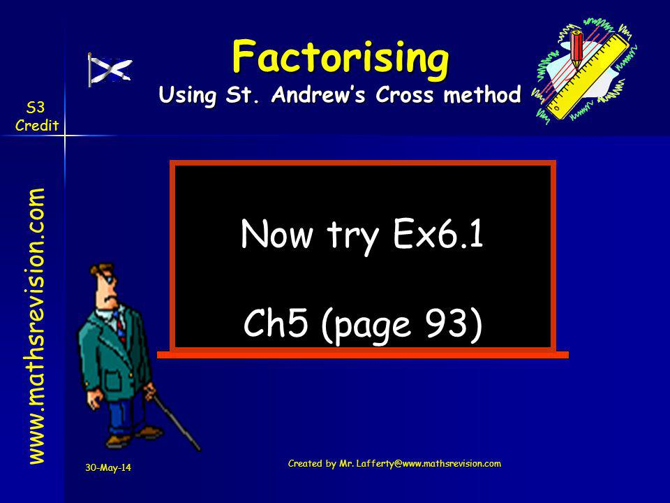 Using St. Andrew's Cross method