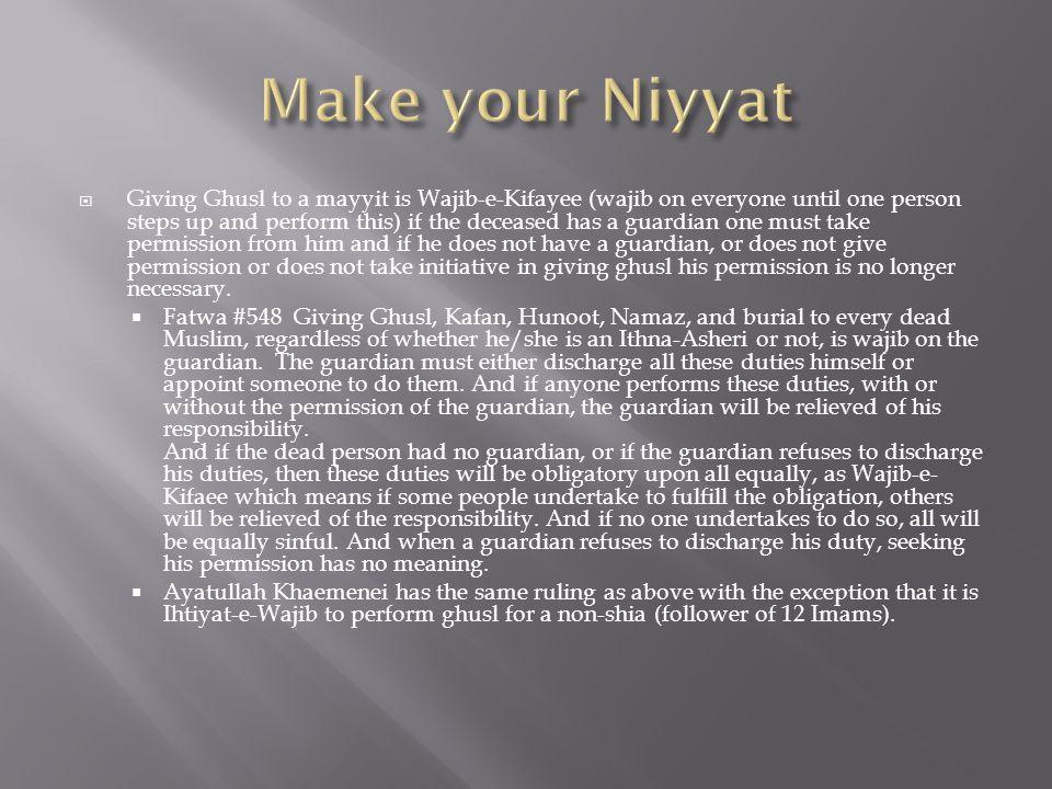 Make your Niyyat