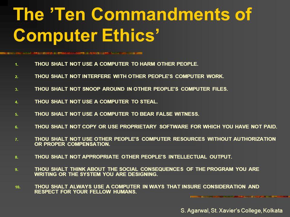 The 'Ten Commandments of Computer Ethics'