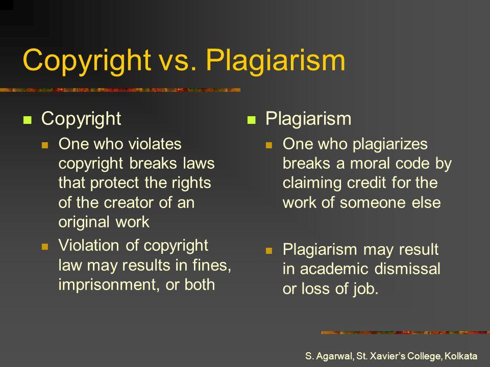 Copyright vs. Plagiarism