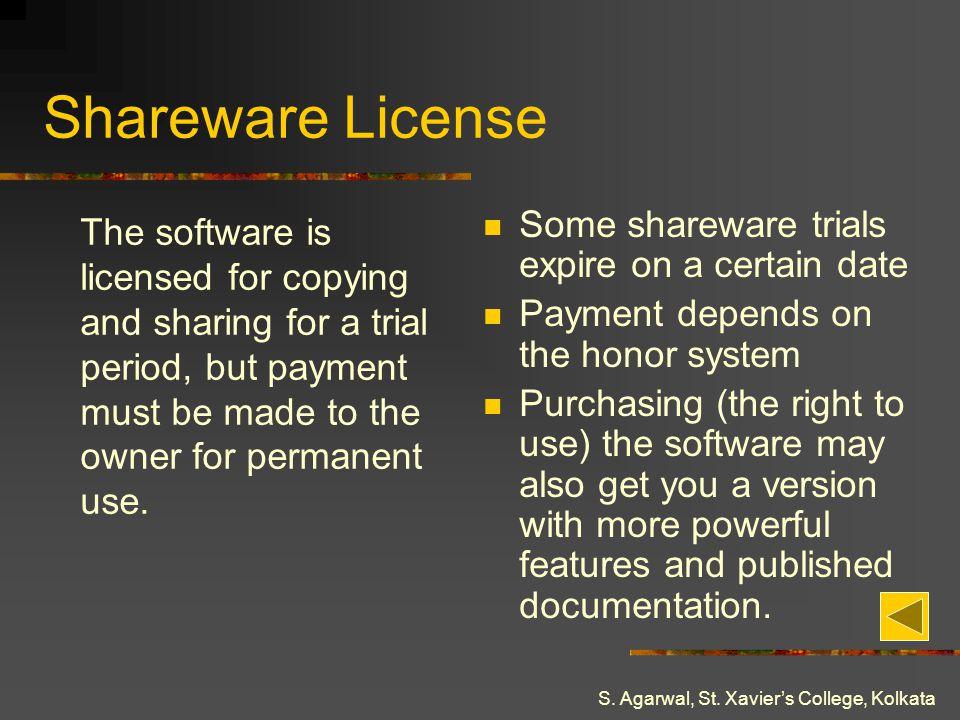 Shareware License Some shareware trials expire on a certain date