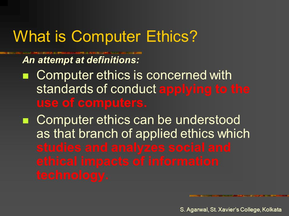 What is Computer Ethics