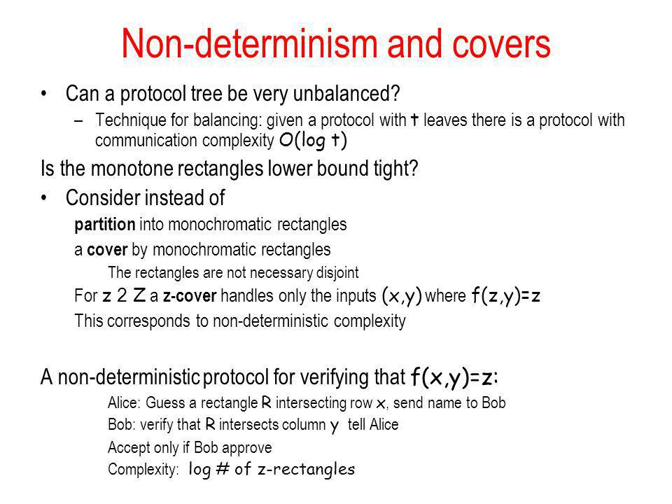 Non-determinism and covers