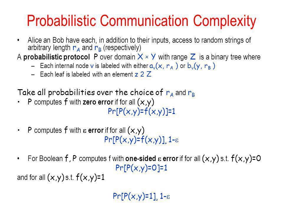 Probabilistic Communication Complexity