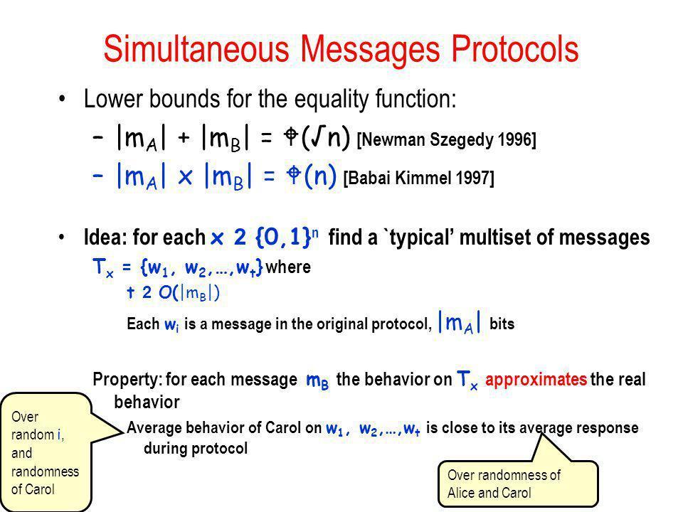 Simultaneous Messages Protocols