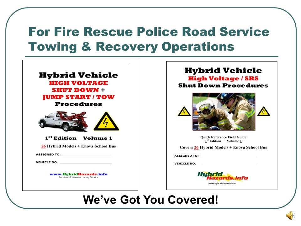 For Fire Rescue Police Road Service Towing & Recovery Operations