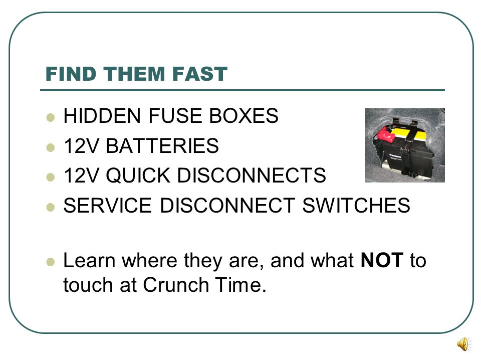 SERVICE DISCONNECT SWITCHES