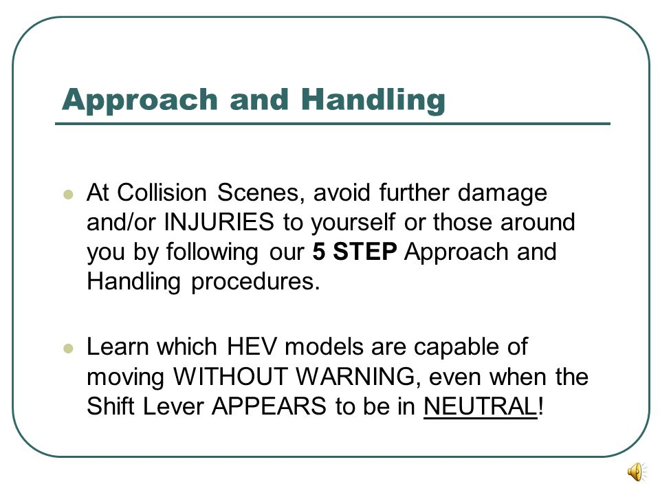 Approach and Handling