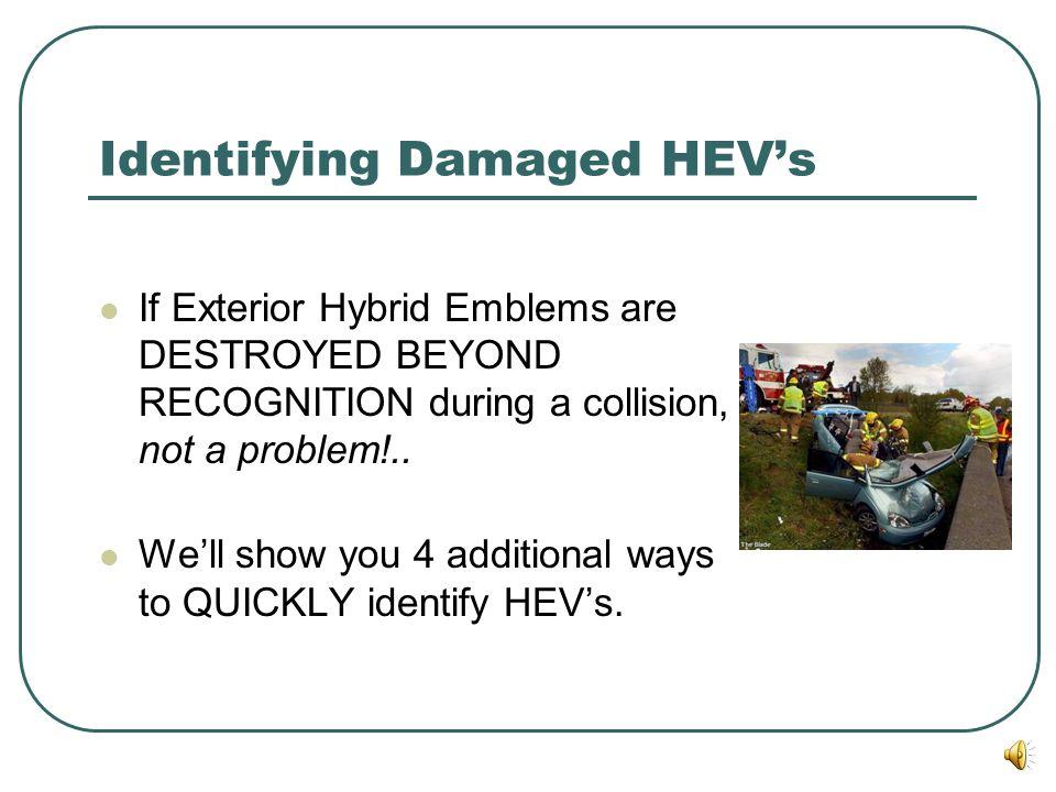 Identifying Damaged HEV's