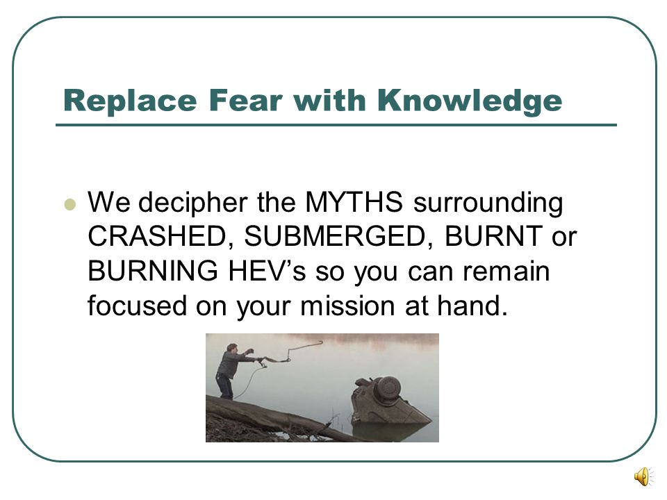 Replace Fear with Knowledge