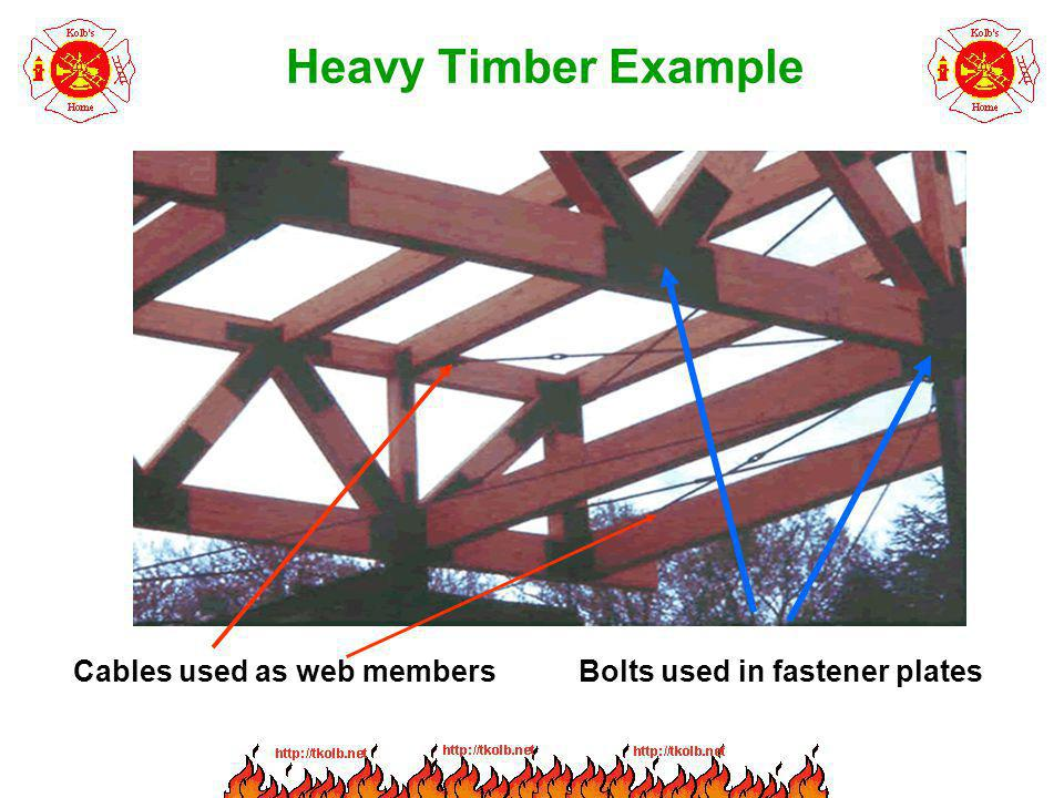 Heavy Timber Example Cables used as web members