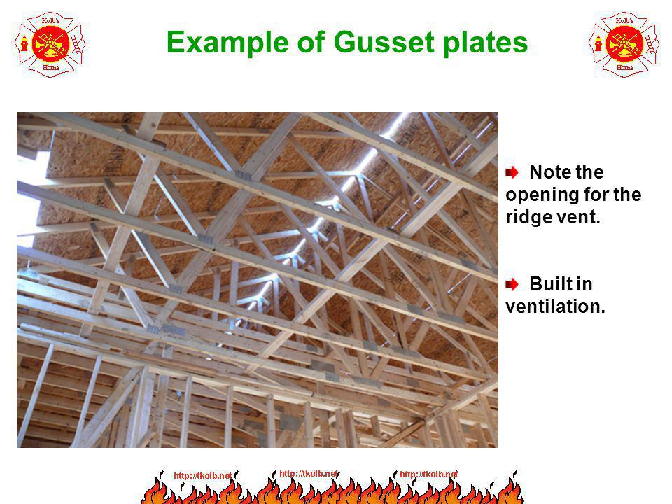 Example of Gusset plates