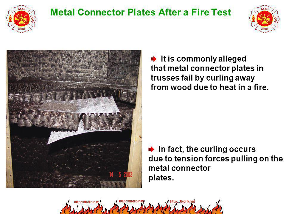 Metal Connector Plates After a Fire Test