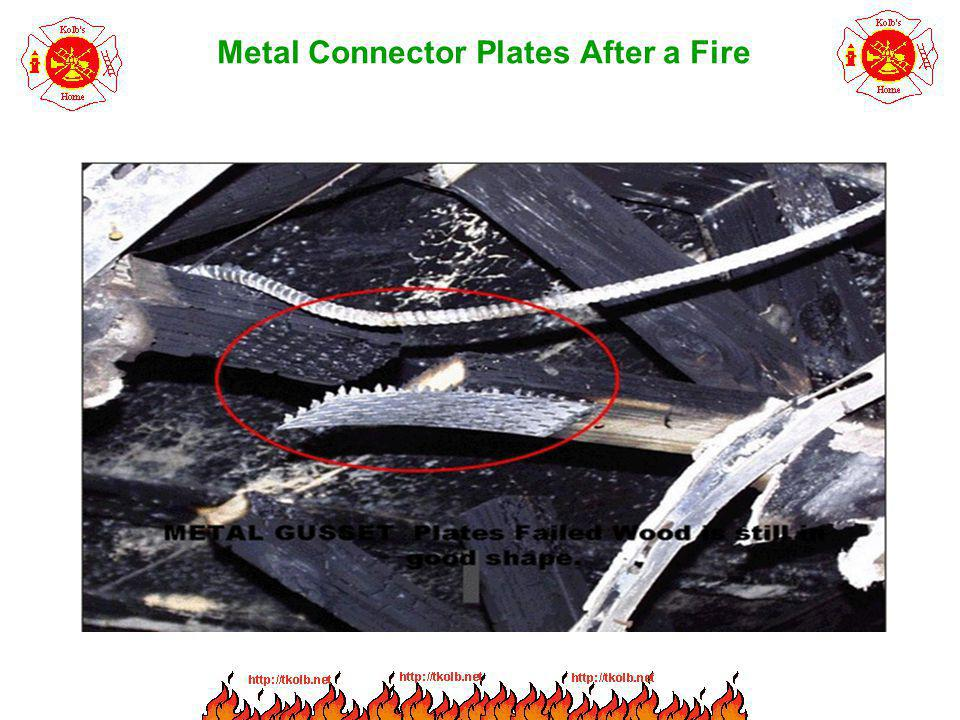 Metal Connector Plates After a Fire