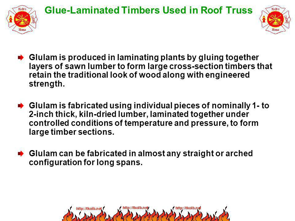 Glue-Laminated Timbers Used in Roof Truss