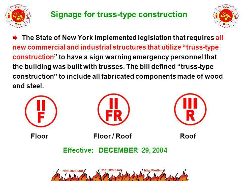 Signage for truss-type construction
