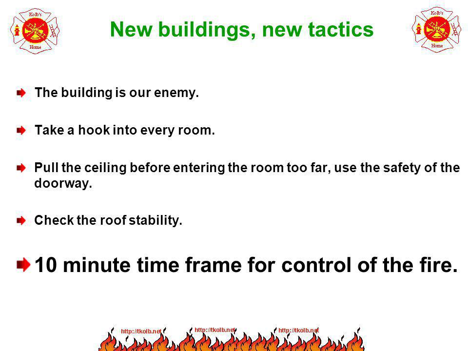 New buildings, new tactics