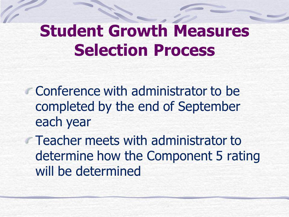 Student Growth Measures Selection Process
