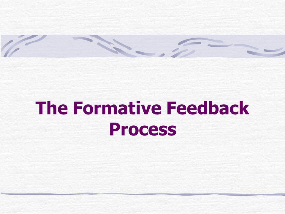 The Formative Feedback Process