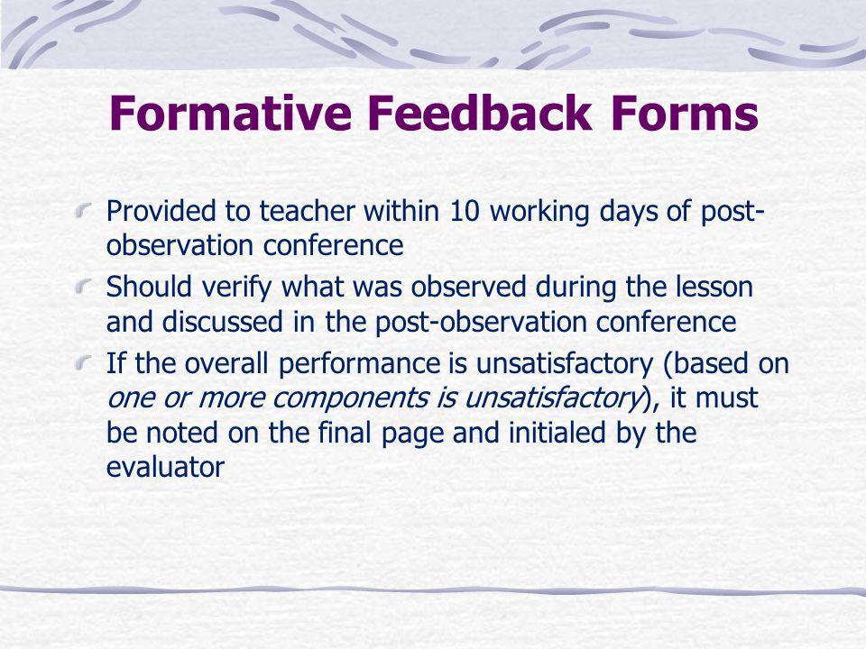 Formative Feedback Forms