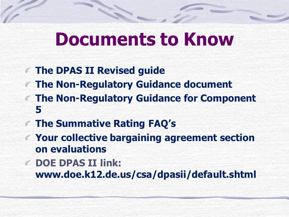 Documents to Know The DPAS II Revised guide