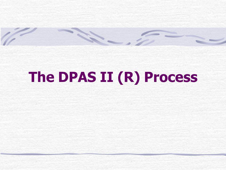 The DPAS II (R) Process