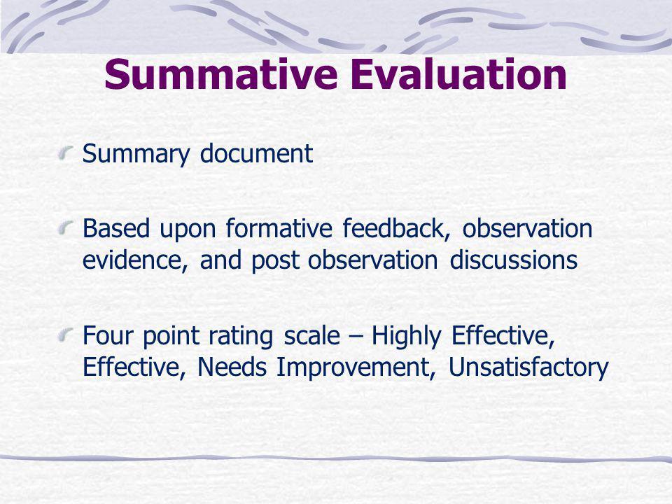 Summative Evaluation Summary document