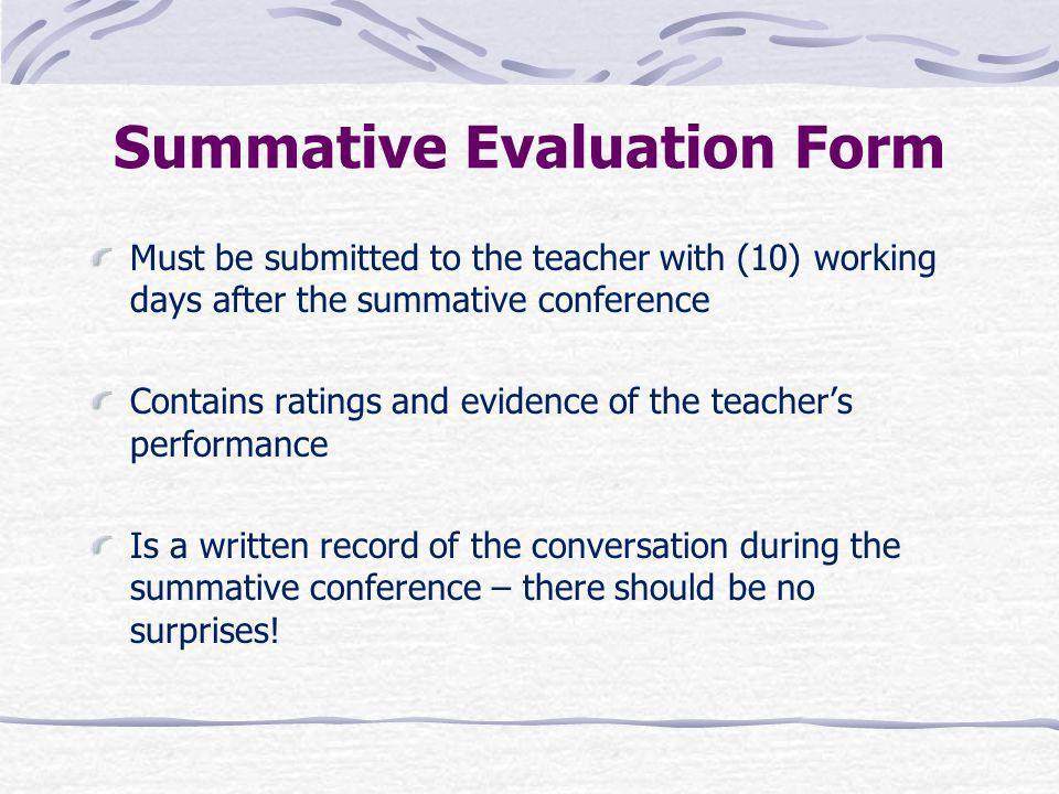 Summative Evaluation Form